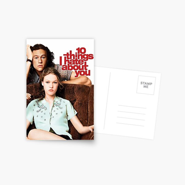 10 things poster  Postcard