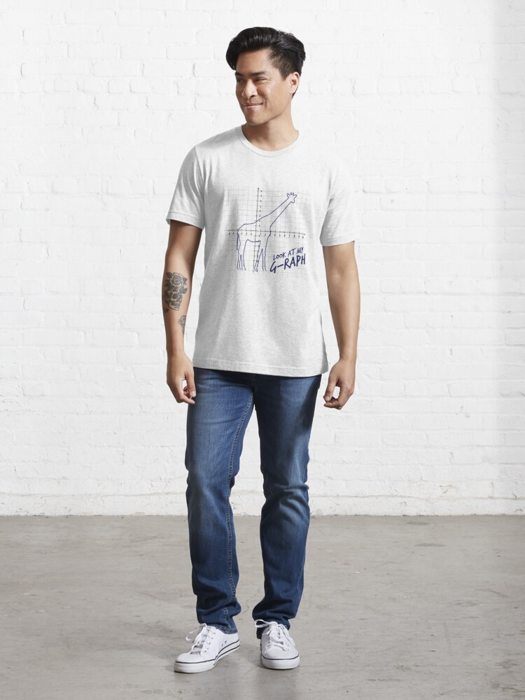 Alternate view of Look At My Graph - Giraffe Pun Essential T-Shirt