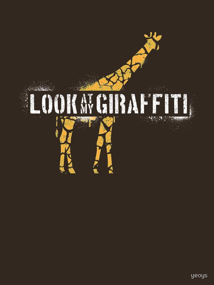Look At My Giraffiti - Giraffe Pun by yeoys