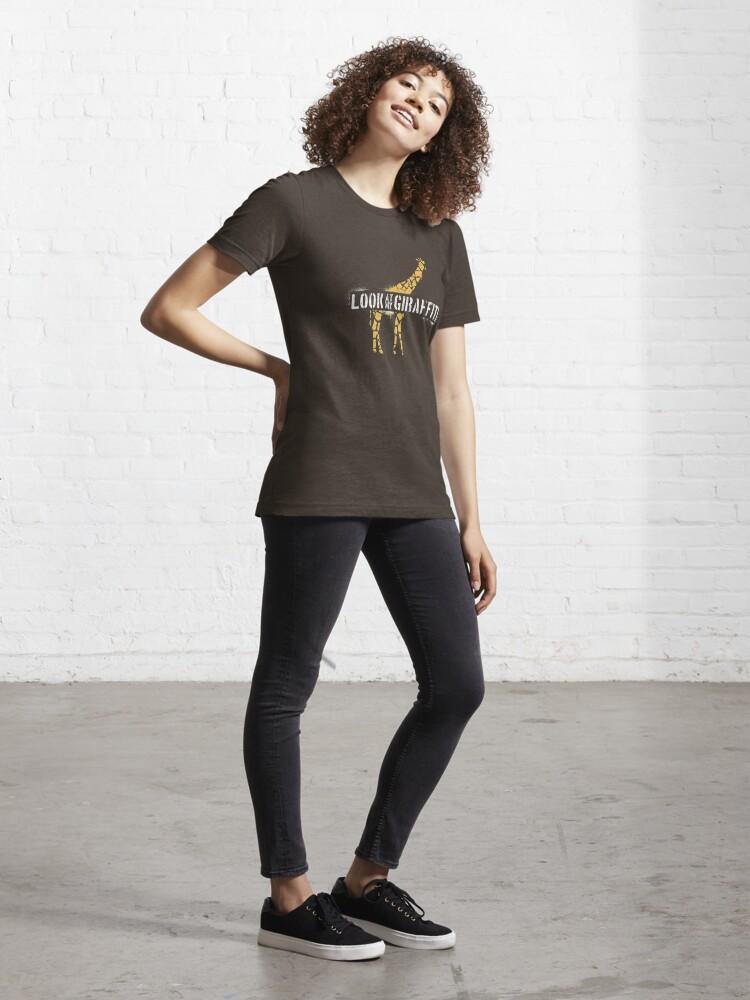 Alternate view of Look At My Giraffiti - Giraffe Pun Essential T-Shirt
