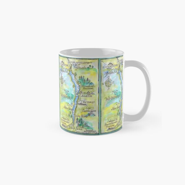 Swallows and Amazons map of Windermere by Sophie Neville -  Classic Mug