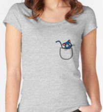 Pocket luna. Sailor moon Women's Fitted Scoop T-Shirt