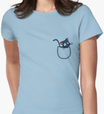Pocket luna. Sailor moon Womens Fitted T-Shirt