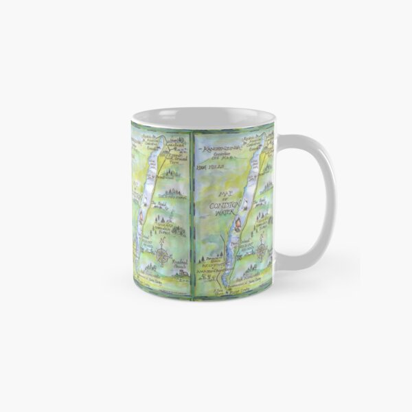 Swallows and Amazons map of Coniston Water -  Classic Mug