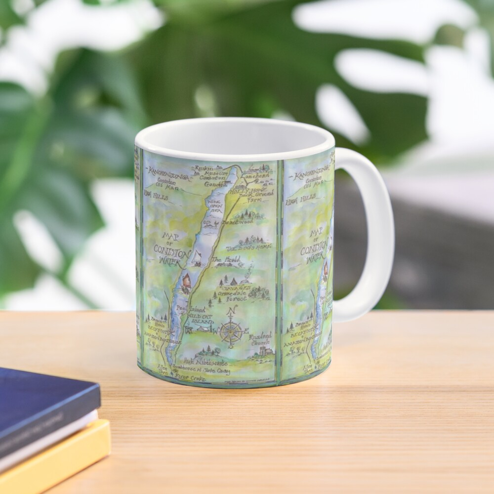 Swallows and Amazons map of Coniston Water -  Mug
