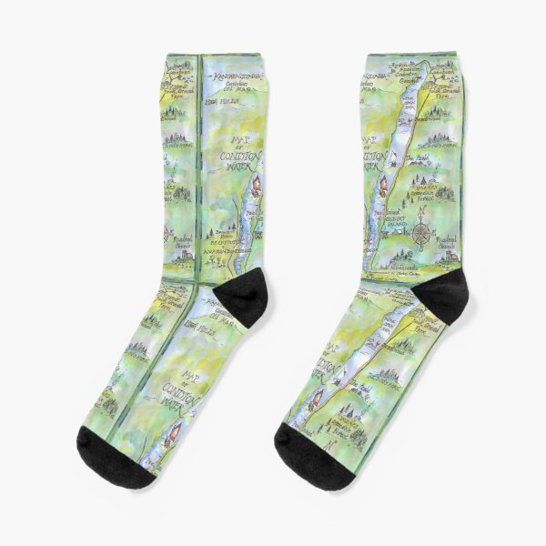 Swallows and Amazons map of Coniston Water -  Socks