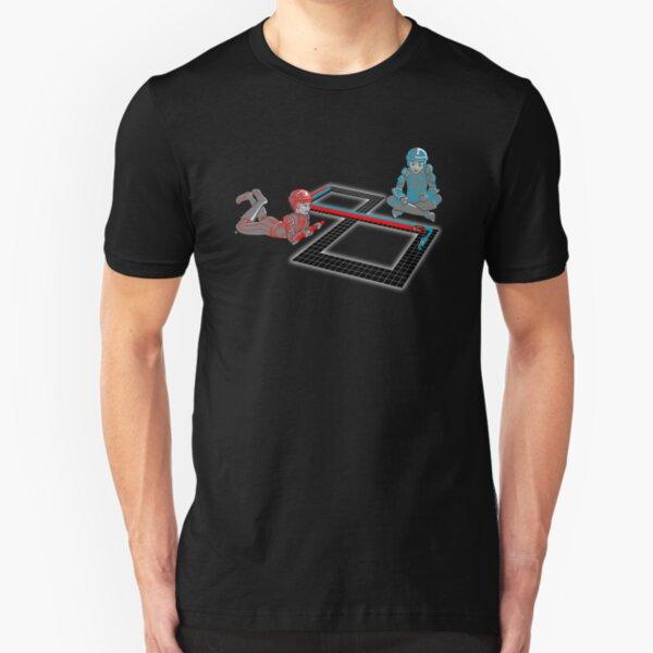 Tron Slot Light Cycles Slim Fit T-Shirt
