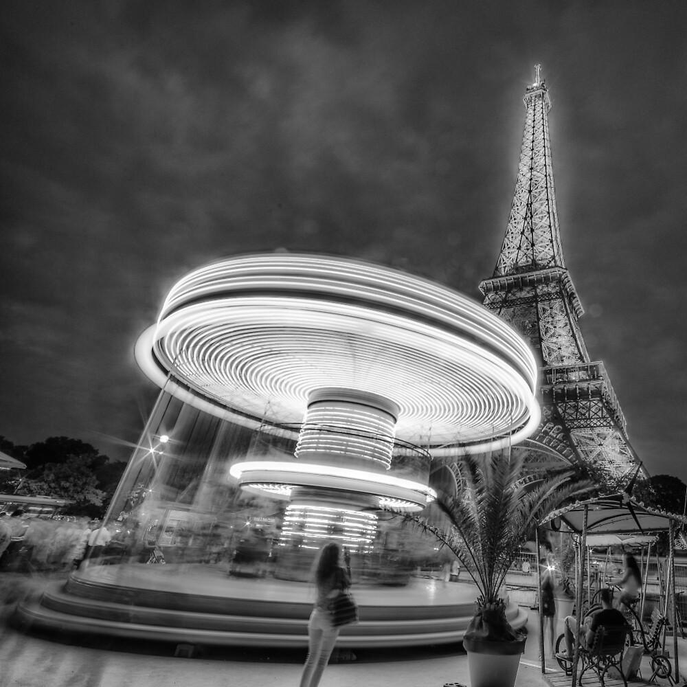 Carousel & Eiffel by hayrettinsokmen