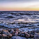 rocks and water by Cheryl Dunning