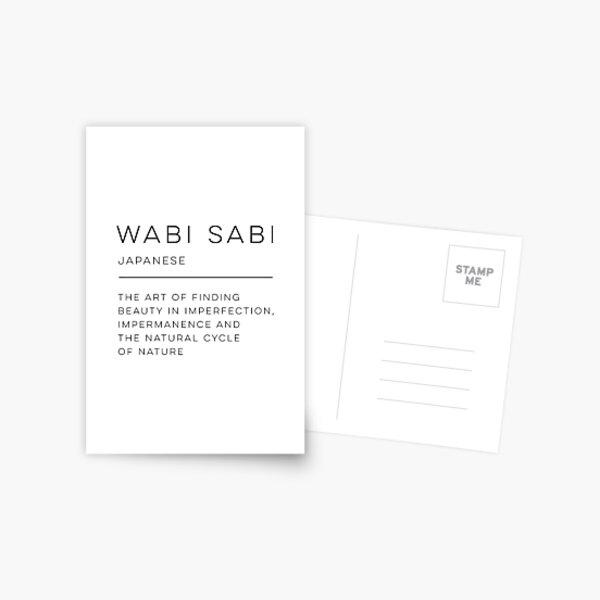 Wabi Sabi Definición Postal