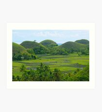 Chocolate Hills of Bohol Art Print