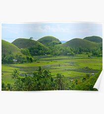 Chocolate Hills of Bohol Poster