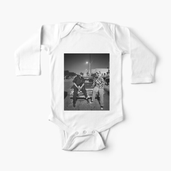 Vintage Snoop Doggy Dogg and Dr. Dre Long Sleeve Baby One-Piece