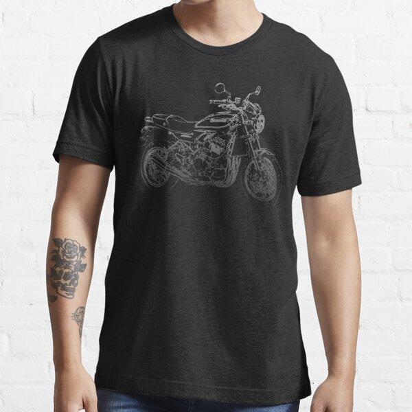 Kawasaki Z900RS crayon silhouette moto vélo nu rétro T-shirt essentiel