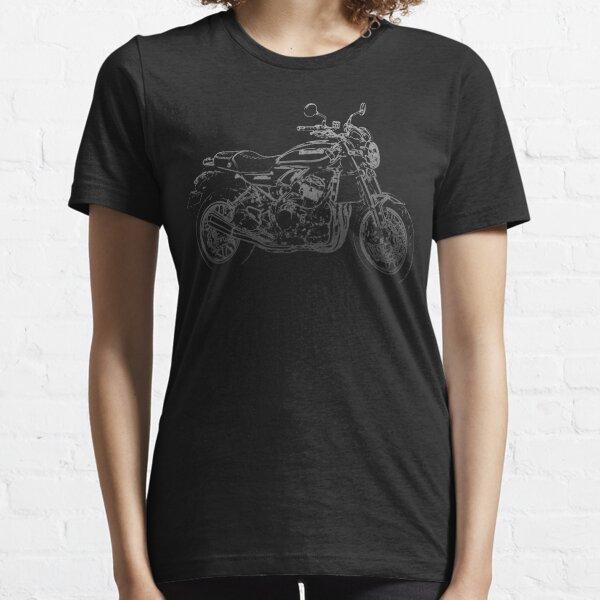 Kawasaki Z900RS pencil silhouette motorcycle naked bike retro Essential T-Shirt