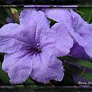 Purple Flowers by ldermid75
