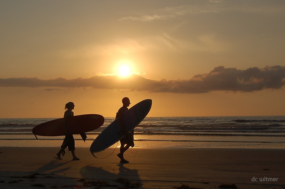 silhouette surfers by dc witmer