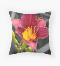 Color Selection Day Lily Throw Pillow
