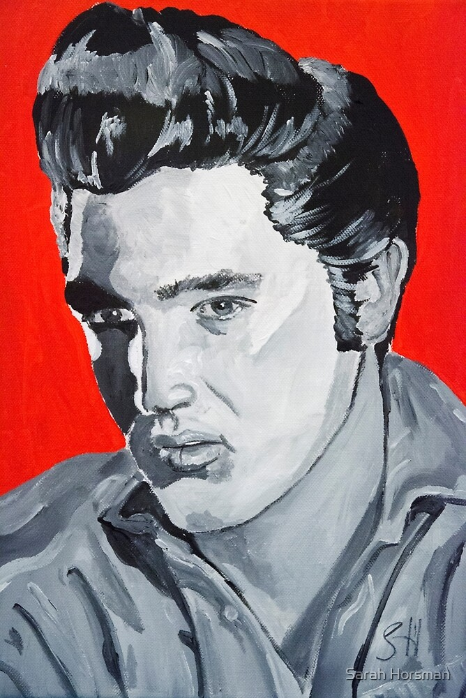 Elvis Presley Acrylic on Canvas by Sarah Horsman