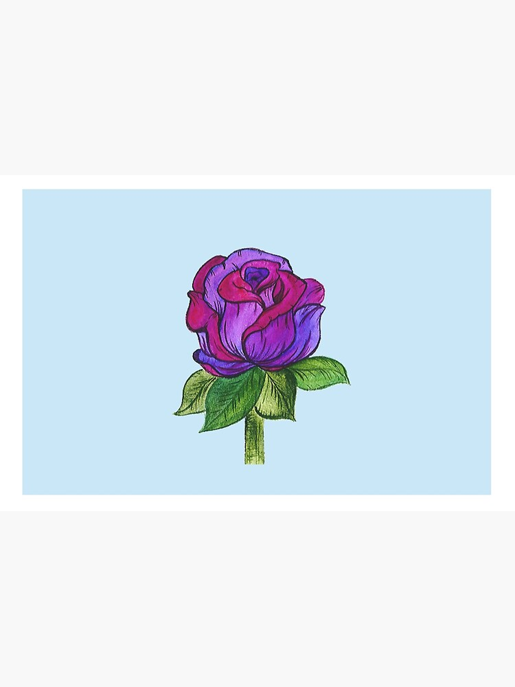 Purple and Pink Rose by artbylenashop