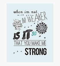 Strong - One Direction Lyrics Collage Photographic Print