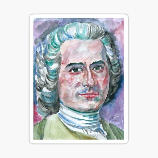 JEAN-JACQUES ROUSSEAU watercolor portrait Sticker