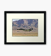 F4 Phantom  Low Pass During 2010 Aviation Nation Framed Print