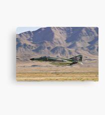 F4 Phantom  Low Pass During 2010 Aviation Nation Canvas Print
