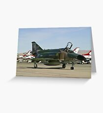 The F-4 Phantom taxiing at Nellis AFB Greeting Card