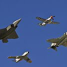 Air Combat Command Heritage Flight. by Henry Plumley