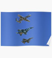 US Air Force Warfare Center Flyby Poster