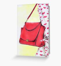 Red bag Greeting Card