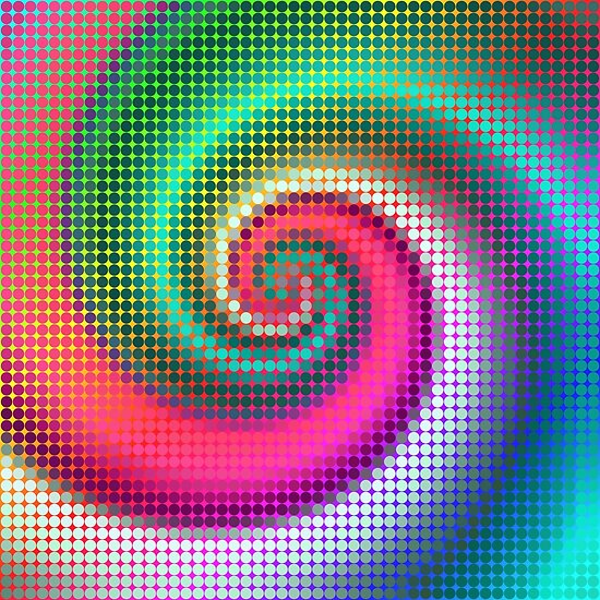Fibonacci | Abstract random colors #19