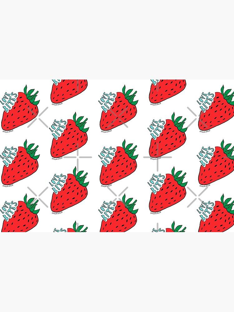 White 'Love Bites' Cute Strawberry - Valentines Day Gift by Kay Ali by Kayali