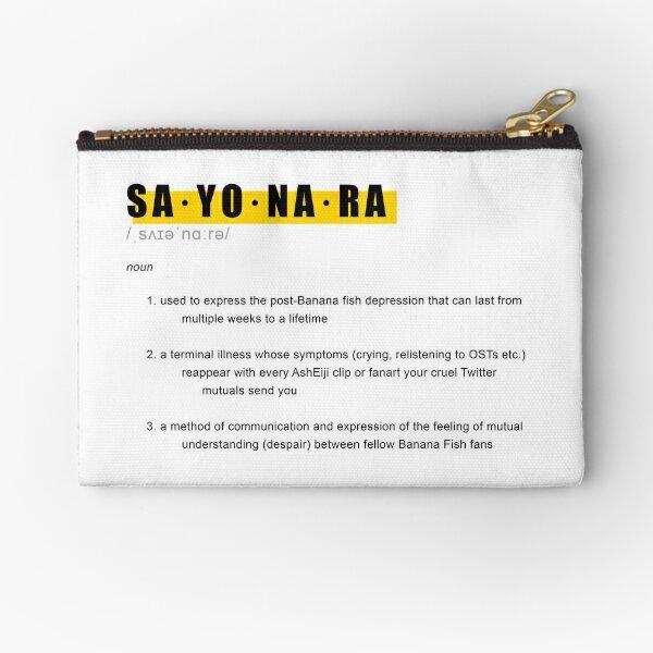 Banana Fish SAYONARA Definición Diseño Bolsos de mano