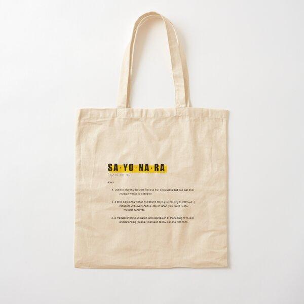 Banana Fish SAYONARA Definition Design Cotton Tote Bag