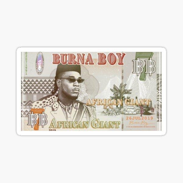 Burna Boy African Giant Sticker