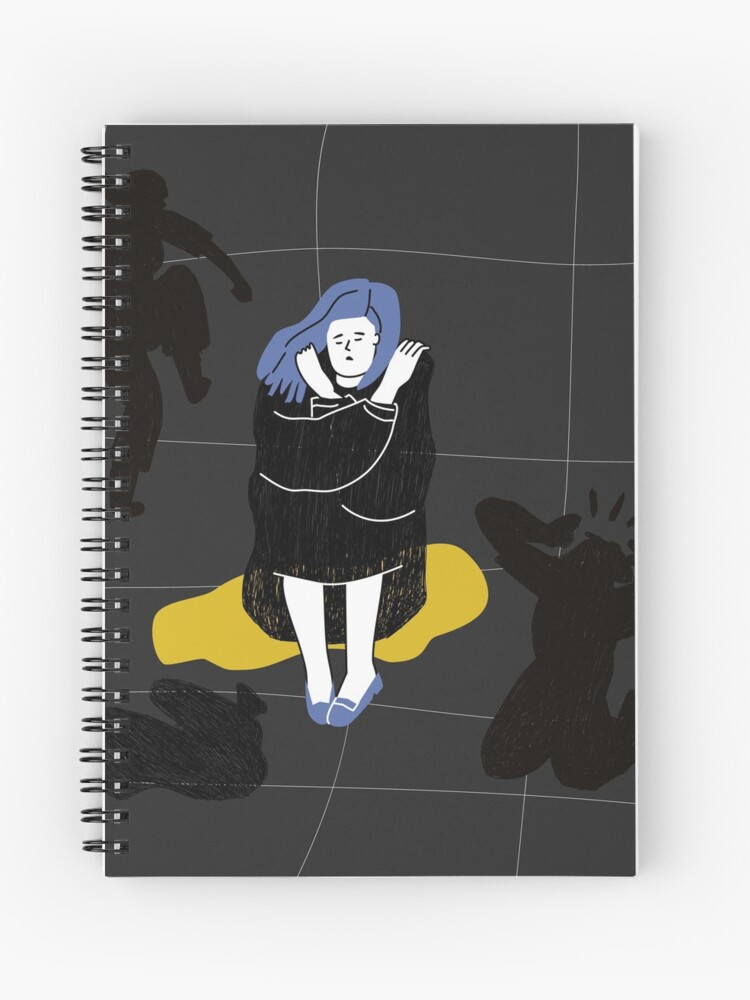Depressed Unhappy Girl Sad Crying Lonely Young Woman Sitting On Floor Female Character In Sorrow Depression Sadness Mental Disorder Or Illness Colorful Vector Illustration In Flat Cartoon Style Spiral Notebook By Mariza677