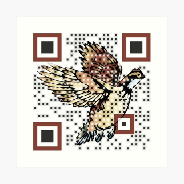 Logo QR Code Art Print