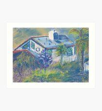 California Cottage (pastel) Art Print