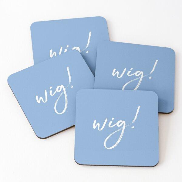 Wig quote brush stroke merchandise  Coasters (Set of 4)