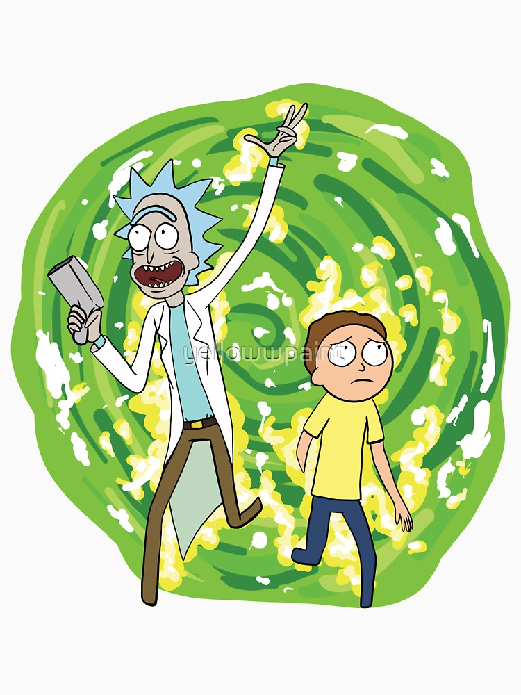 rick and morty  by yellowwpaint