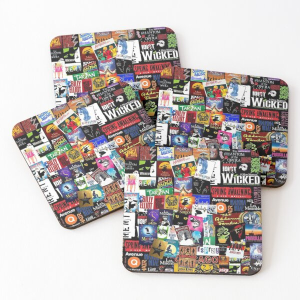 music collage newest Coasters (Set of 4)