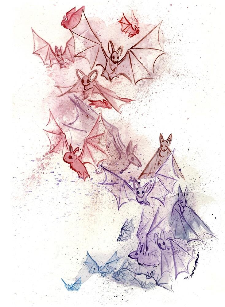 Flight of Bats by JoJo Seames