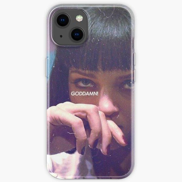 Mia Wallace God Damn! iPhone Soft Case