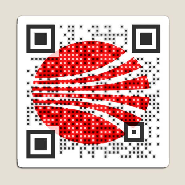 Logo QR Code with Your Branding  Magnet