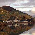 Reflection of Invereary , Loch Fyne by Cliff Williams