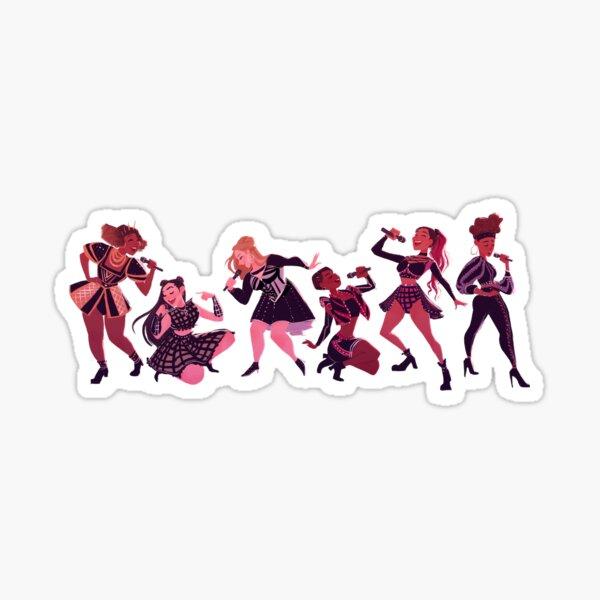 Six the Musical Lineup Sticker