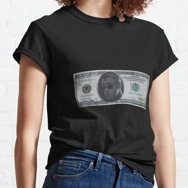Bad Bunny $ 100 Bill Camiseta clásica
