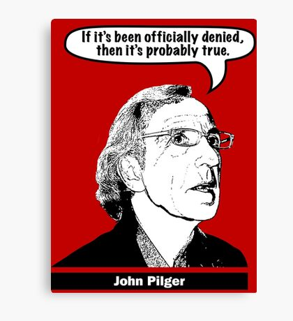 John Pilger Canvas Print